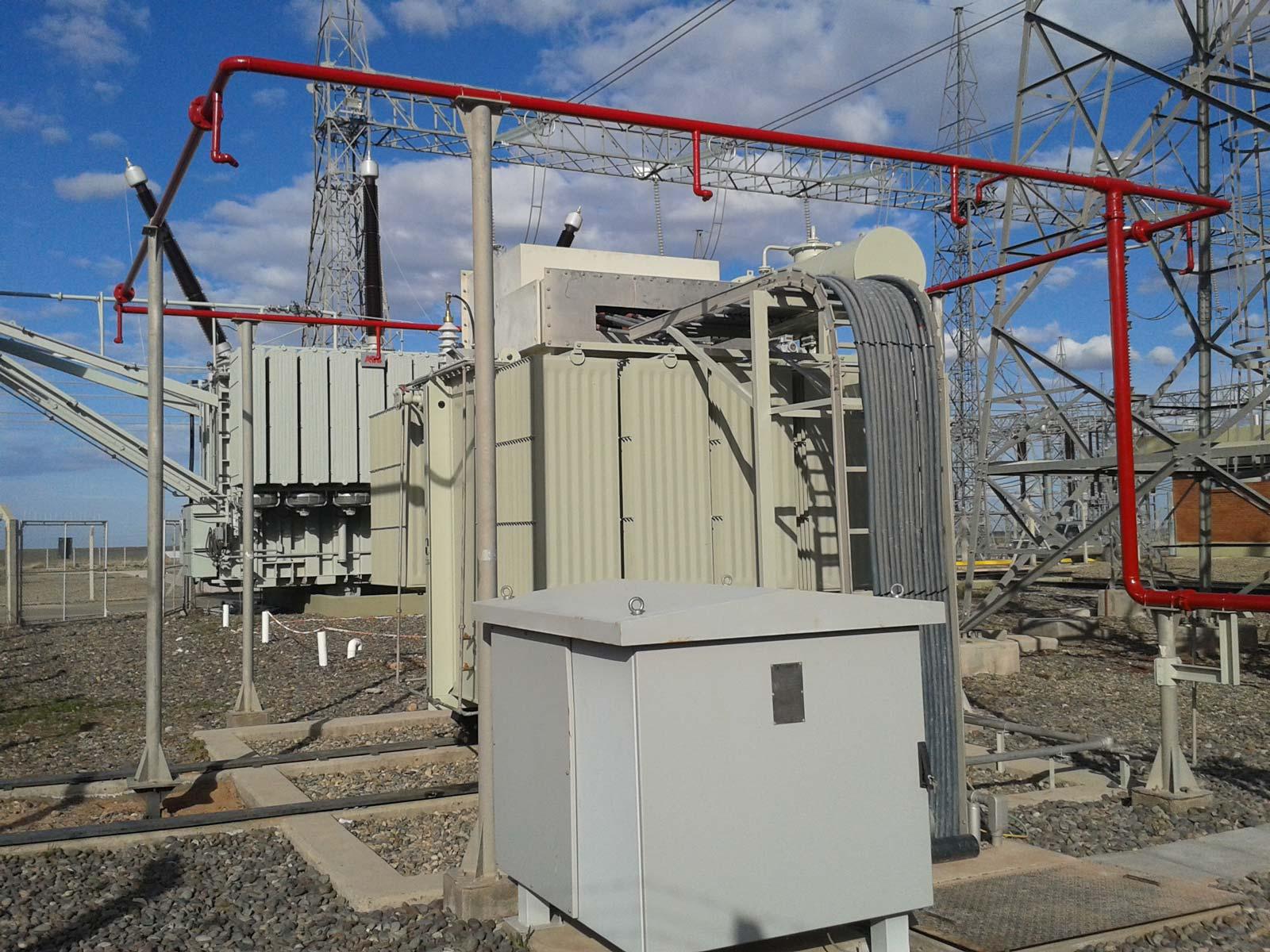 """Línea de alta tensión en 132 kV """"Cierre del anillo petrolero"""" 3"""